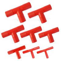 T-Anschlüsse aus Nylon für Wasserleitungen, Größen für Schläuche von Ø10-25 mm