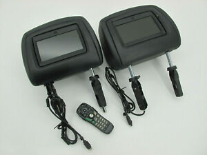 Range Rover Sport L320 2005 - 2009 DVD Black Leather Headrest Screens Monitors