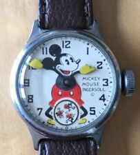 Very Rare second edition 1933 Ingersoll Mickey Mouse watch with unique dial