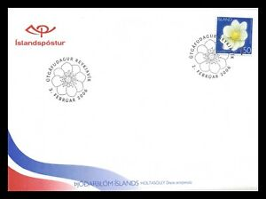 Iceland 2006 FDC, The National Flower, Lot # 1.