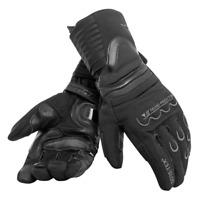 Guanti pelle lunghi moto Dainese Scout 2 Gtx nero invernali winter black gloves