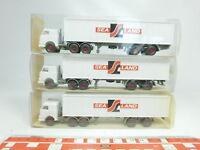 BJ474-0,5# 3x Wiking H0/1:87 527 Container-Sattelzug/LKW Sealand, NEUW+OVP