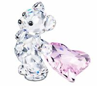 NIB $110 Swarovski Crystal Figurine Kris Bear WITH YOU  Pink Heart #5103230