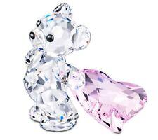NIB $110 Swarovski Crystal Figurine Kris Bear WITH YOU  Pink Heart #5103230