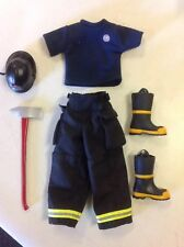 Ultimate Soldier 1/6 Scale Firefighters Uniform Helmet,Axe,Boots,Pants,& T-Shirt