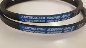 2 Professional Mitsuboshi Super AG-X PTO Belts Kubota G21 Replaces 66021-25080