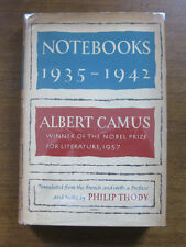 NOTEBOOKS 1935-1942 by Albert Camus -  1st/2nd HCDJ 1963  - VG  -  $5.00