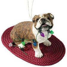 Sandicast Bulldog (brindle) Figurine Christmas Decoration.