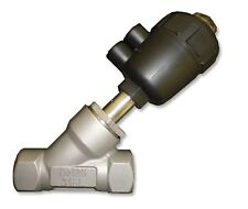 """TPT  2/2-Way S.S. Angle-Seat Valve 1"""" NPT  with pneumatic actuator  N. closed"""