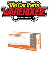 100 in BOX MEDIUM Finite Orange HEAVY DUTY Nitrile Powder Free Disposable Gloves