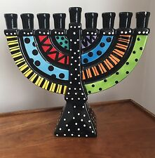 Menorah Ceramic Hanukkah Jewish Our Name Is Mud Lorrie Veasey