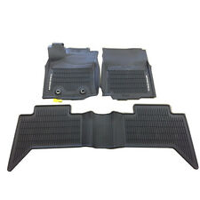 TOYOTA TACOMA 2016 2017 ALL WEATHER RUBBER FLOOR MATS LINERS BLACK INSIGNIA LOGO