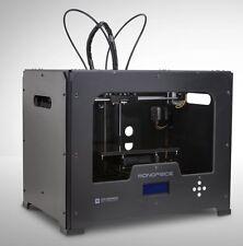Monoprice Dual Extrusion 3D Printer - Black Metal Housing - 11614 Retail $1960