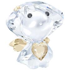 Swarovski Crystal Figurine Angel With Golden Heart 5135868 *New In Box*