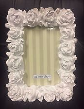 "Innova White Rose shabby Chic Pretty Photo Frame 6"" x 4"""