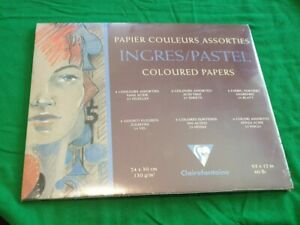 Clairefontaine Ingres Pastel coloured papers 24 x 30 cm 130 g/m2