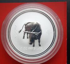 Australia: 2 dólar 2009 year of the Ox-buey lunar, 2 Oz, # f 1896, Rare
