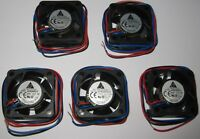 5 x Delta 40 mm - 5 V Fan - 5000 RPM - Delta AFB0405LD - 5V DC - 5.6 CFM - 25 dB