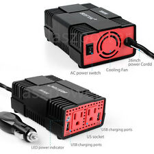 BESTEK 300W Power Inverter for Car DC 12V to AC 110V Outlet USB Adapter Charger