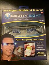 Mighty Sight Led Magnifying Eyewear Glasses Original Box As Seen on TV New