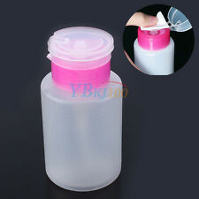 Empty Clear Nail Art Pump Dispenser Acetone Polish Remover Alcohol Liquid Bottle