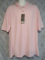 Grand Slam Performance Men's 2XL Pink Easy Care 50 UPF Protection Stretch New