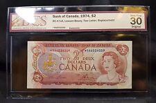 1974 Canada $2 Bank Note *RA - BC-47aA - BCS VF 30 - See Photos - N-140
