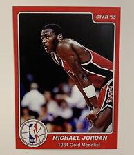 1984-85 STAR MICHAEL JORDAN #7 ROOKIE CARD 1984 GOLD MEDAL REPRINT GEM MINT