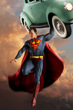 Retro Superman Original 11x17 Fine Art Print by Scott Harben