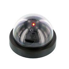 Fake Dummy Dome Surveillance Security Spy Video CCTV Camera w/ LED Light, Black