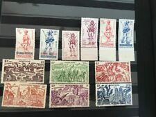 timbres troupes coloniales + campagne 1ere Armée Indochine Kouang Tcheou 2ème GM