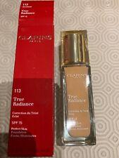 Clarins True Radiance 113 Chestnut Spf15 Perfect Skin Evens & Illuminates