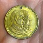 1884 Pres. Grover Cleveland & VP Hendricks Gilt Bronze Medal Token GC-1884-16