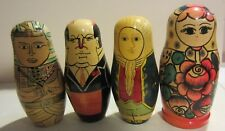Vintage Matryoshka Russian Nesting dolls - leaders - pharaohs - set of 4