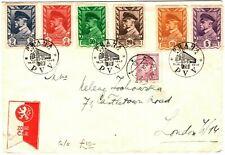 CZECHOSLOVAKIA Cover Prague *Autoposta PVV* GB London 1948{samwells-covers}LS191