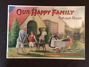 VINTAGE OUR HAPPY FAMILY PAPER DOLL BOOK 1929 UNCUT