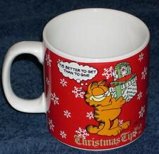 "Ceramic Garfield ""Christmas Tip No. 2"" Coffee Cup (1978)"