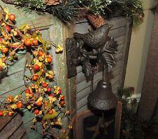 Primitive Antique Vtg Style Country Farmhouse Cast Iron Metal Bird Door Bell