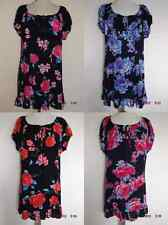 NEW LADIES LONG LENGTH FLORAL BOHO GYPSY STYLE SMOCK TOP TUNIC PLUS SIZE 18-32