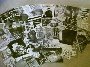(10/22J) vintage EPHEMERA paper CRAFTING supply lot-SCRAPBOOKING art COLLAGE