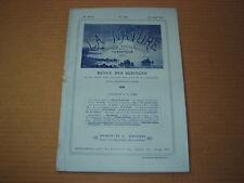 *** La Nature n° 1769 (20/04/1907) - Pétrole en Algérie / Canal de Marseille