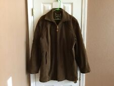 Vtg Montgomery Ward Brent Men's Corduroy Rancher Style Jacket Coat L Long Brown