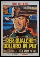 Werbeplakat Für Paar Dollar IN Mehr 'Sergio Leone Clint Eastwood Van Cleef P15