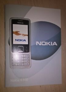 Nokia Mobile Phone Telephone Instruction Book 6300 User Guide Operation Manual