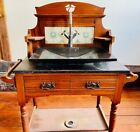 Antique Vanity Wood Stand in Good Condition