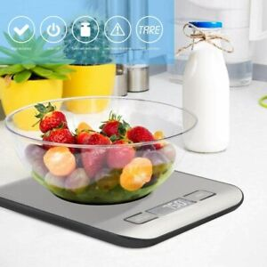 5kg Electronic kitchen scales digital LCD bowl cooking food baking weighing 81