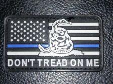AMERICAN USA FLAG DON'T TREAD ON ME SNAKE 3D PVC SWAT BLUE  VELCRO® BRAND PATCH