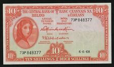 IRELAND 1968 10/ SHILLING  LADY LAVERY BANKNOTE