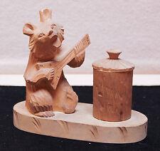 art-antiquité_sculpture bois_78_petit ours jouant du balaÏka