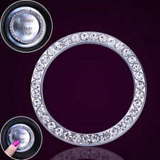Car Interior One-key Engine Start Stop Ignition Push Button Decor Diamante Ring